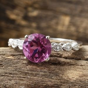 African Lilac Quartz Sterling Silver Ring